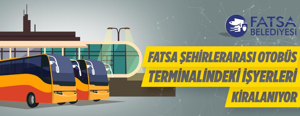 Fatsa Otobüs Terminalindeki İşyerleri Kiraya Verilecek