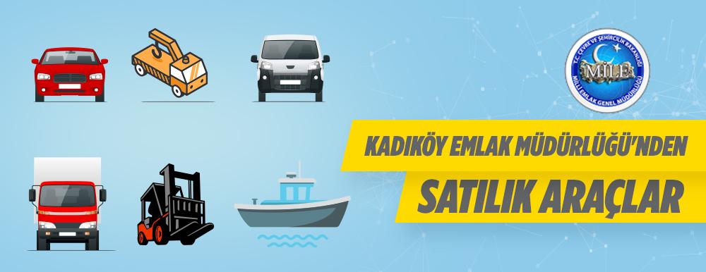 Kadıköy Emlak Müdürlüğünden Satılık Araçlar