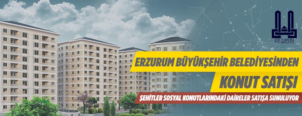 Erzurum Büyükşehir Belediyesinden Konut Satışı