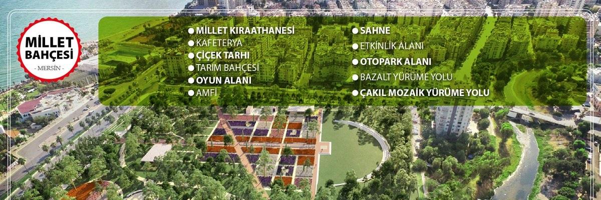 Mersin Millet Bahçesi Yapımına Başlandı