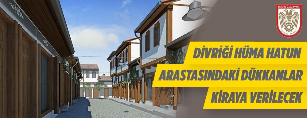Sivas Divriği'de 12 Adet Dükkan Kiraya Verilecektir