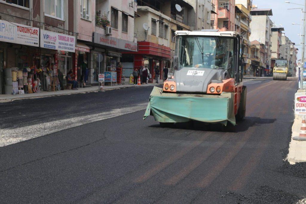 armutlu mahallesi asfalt çalışması