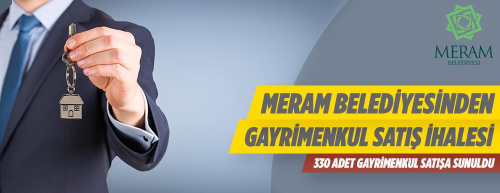 Konya Meram Belediyesince 330 Gayrimenkulün Satış İhalesi Yapılacaktır