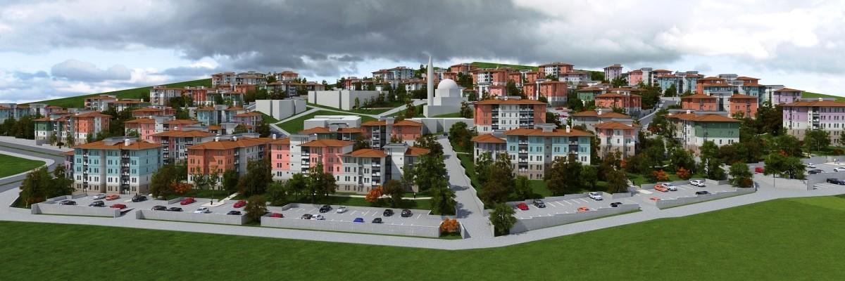 TOKİ Kayseri'de Yatay mimari 108 konut yapacak