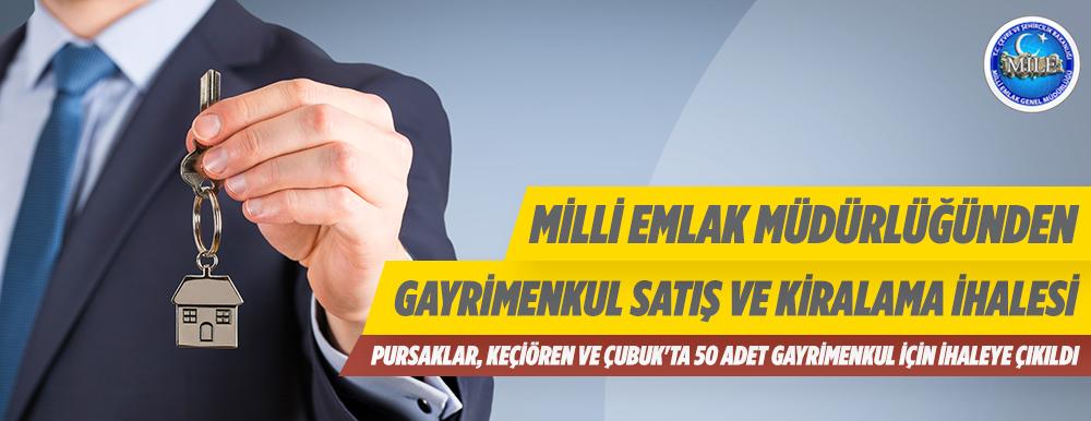 Milli Emlak Tarafından Ankara Da İhaleyle Gayrimenkuller Satılacaktır