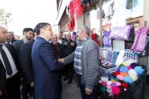 Kaymakamı ve Belediye Başkan Vekili Mehmetbeyoğlu'nun Esnaf Ziyareti