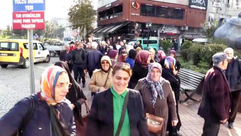 Rize'de Kamulaştırmalara Protesto Yürüyüşü