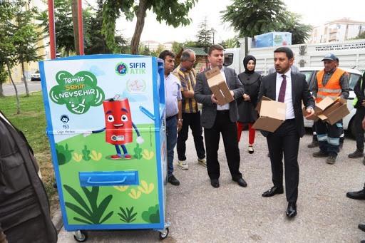 Nevşehir'den Akıllı Geri Dönüşüm Kutuları