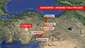 Karadeniz-Akdeniz Yolu Projesi Sona Geliniyor