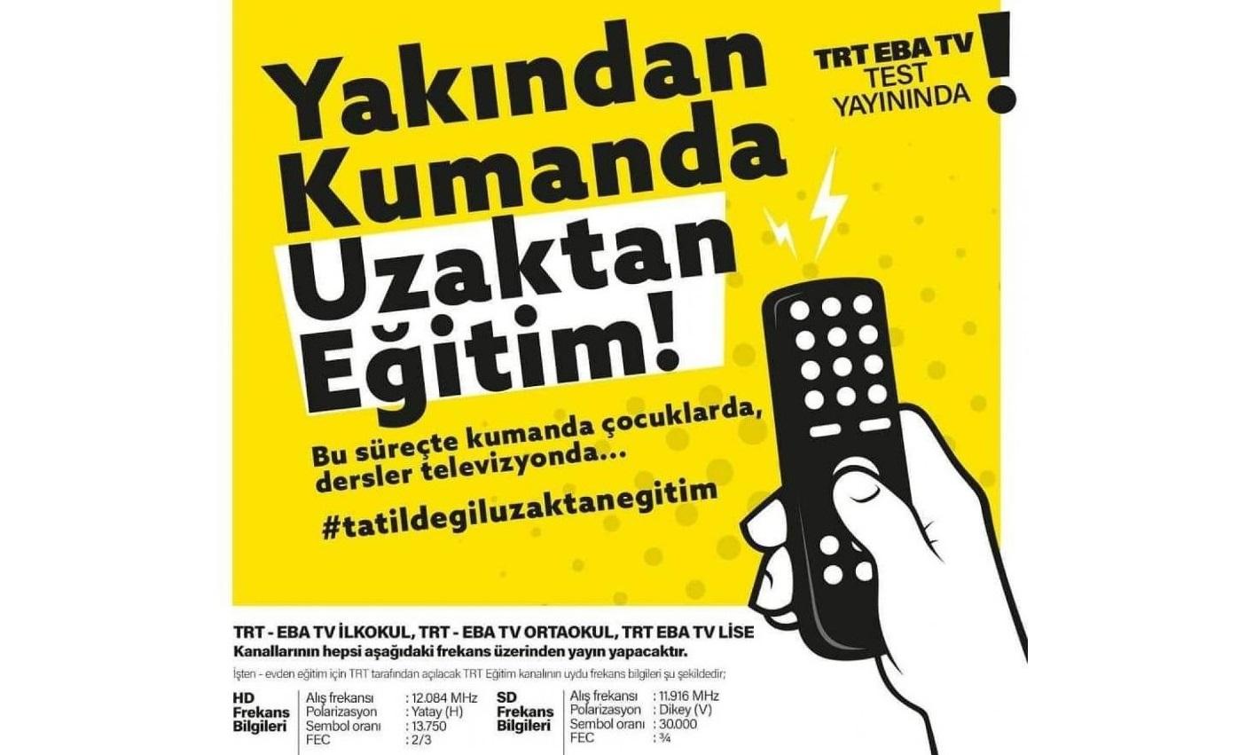 Uzaktan Eğitime Geçildi EbaTV Frekansları Yayınlandı