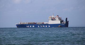 Şoförlerimizi Getiren Gemi İskenderun Körfezinde