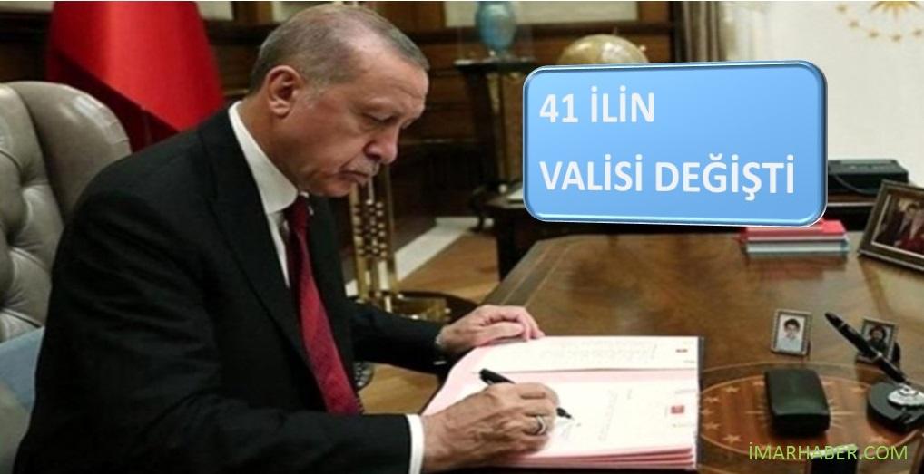 VALİLER KARARNAMESİ İLE 41 İLİN VALİSİ DEĞİŞTİ