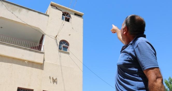 Şanlıurfa Depreminde bazı evler hasar gördü