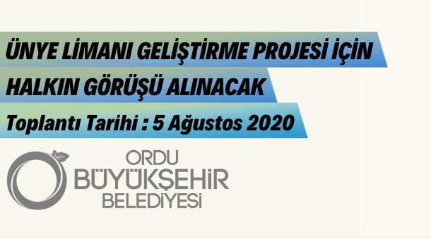 Ünye Limanı Projesi İçin Toplantı Yapılacak