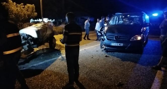 Denizli Buldan'da Trafik Kazası