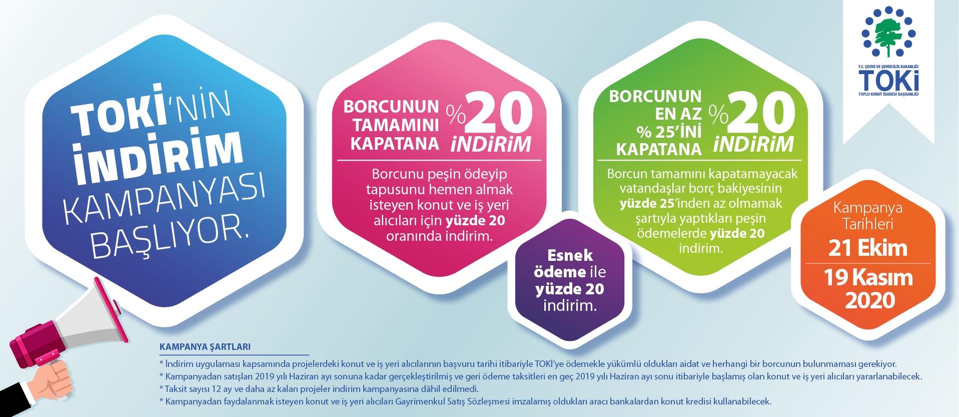 TOKİ'nin ikinci indirim kampanyası 21 Ekim'de başlıyor