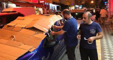 İstanbullular Araçlarını Dolu Öncesi Korumaya Aldı