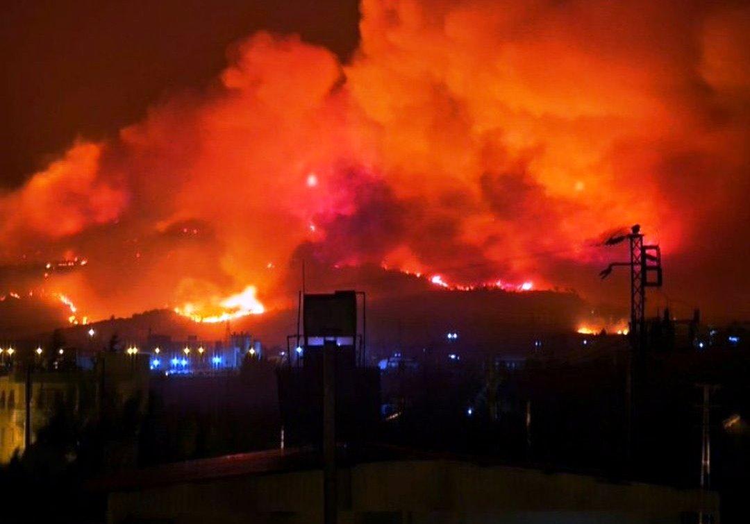 Hatay'daki Yangın Yerleşim Merkezine Sıçradı[Video]