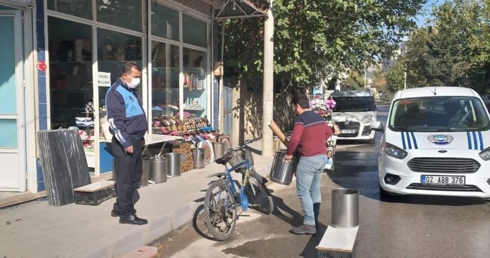 Adıyaman Belediyesinden kapsamlı kaldırım işgali denetimi