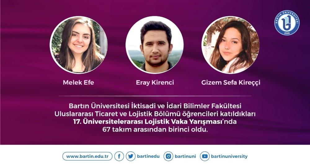 Bartın Üniversitesi Öğrencilerine Birincilik