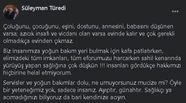 Trabzonlu Başhekim Böyle İsyan Etti