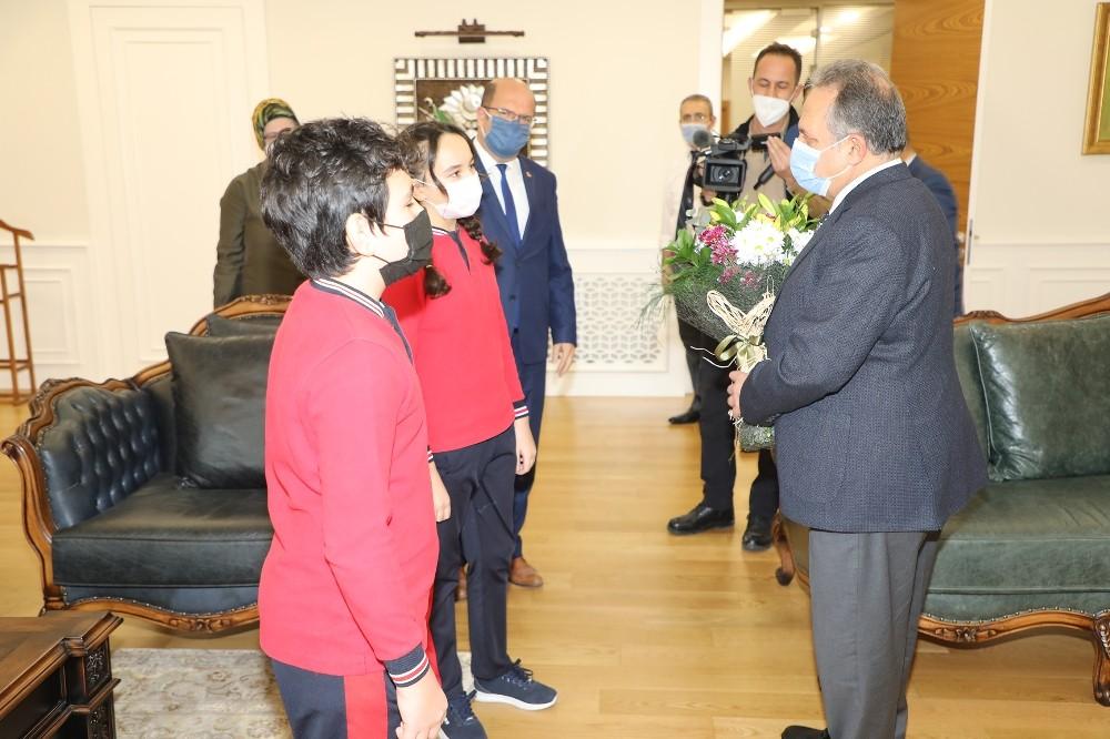 Başkan Yalçın'a Öğretmenler Günü Ziyareti