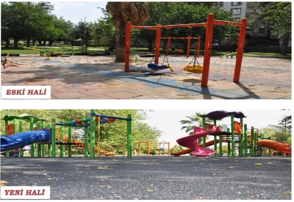 Cizre Belediyesi Parkları Yeniliyor