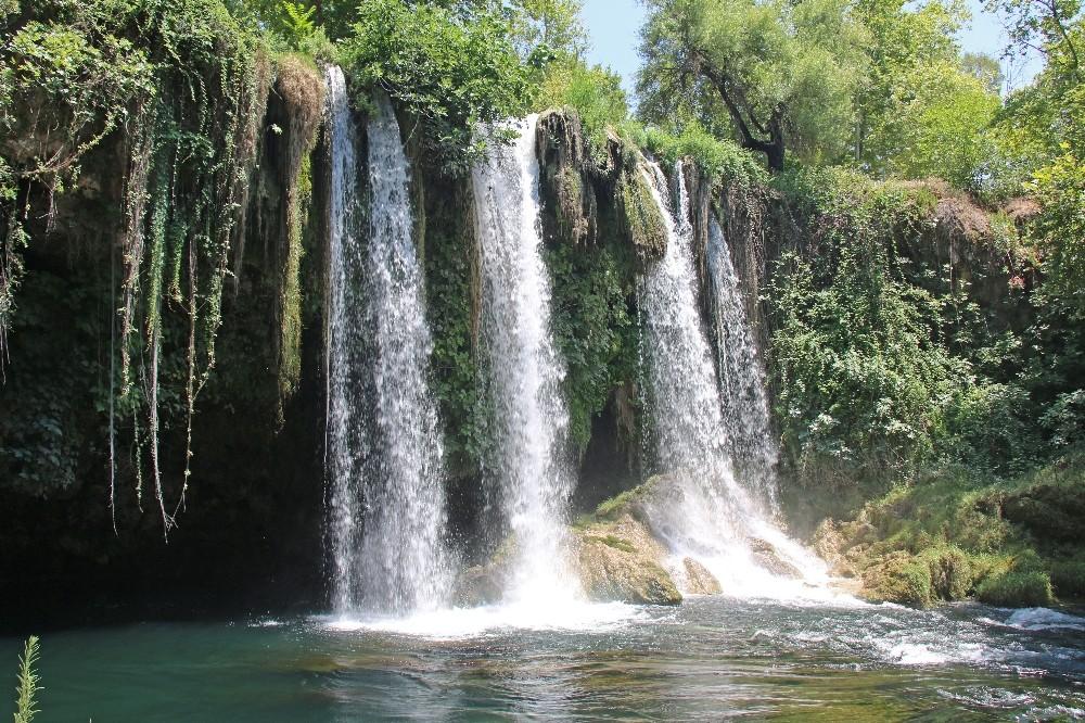 Düden Şelalesi'nde su seviyesi ölçümleri başladı