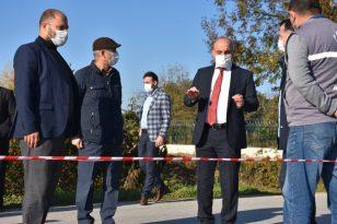 Erenler'de kırsal mahallelerin doğalgaz çalışması devam ediyor