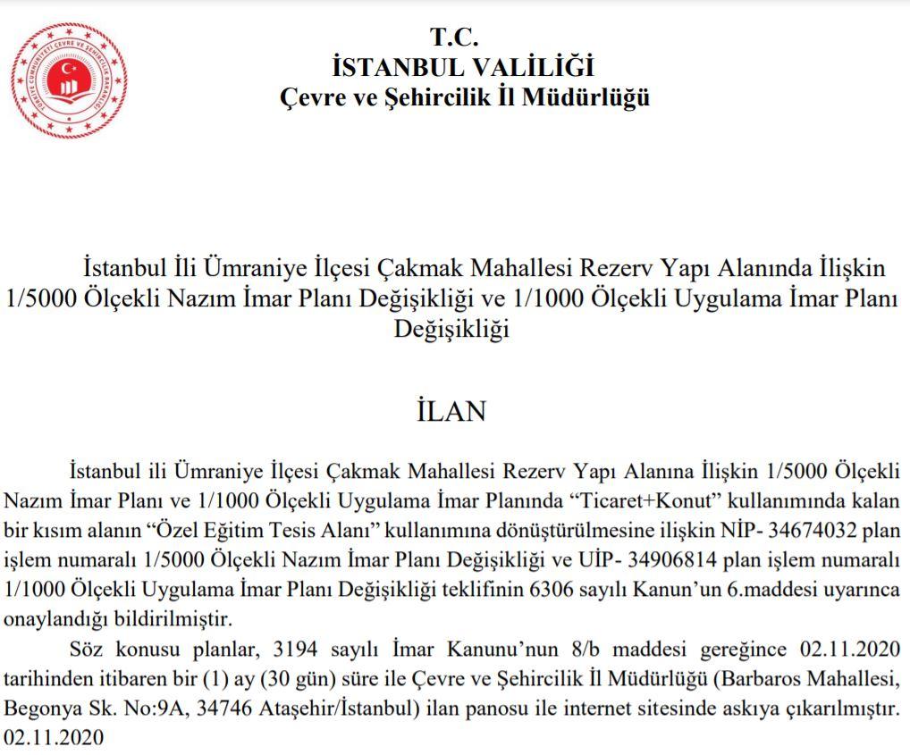 istanbul-ümraniye-imar-plani