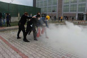 Samsun İtfaiyeden Yangın Eğitimi
