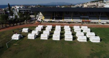 Kuşadası Stadyumuna Çadır Kent Kuruldu
