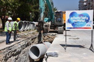 Mezitli'ye Yeni Yağmursuyu Hattı