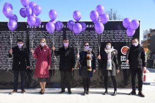 Mor balonlar katledilen 335 kadın için havalandı