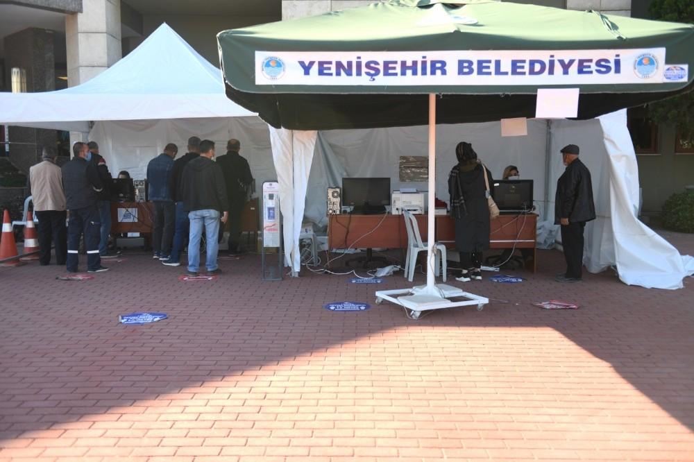 Yenişehir Belediyesinde hafta sonu vezneler açık