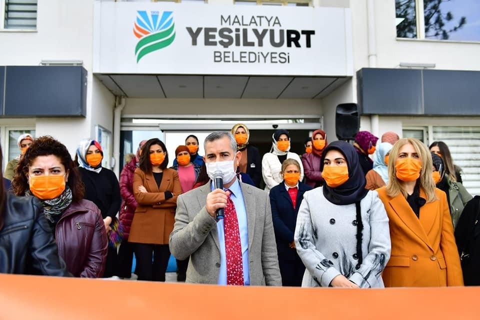 Yeşilyurt'ta kadına şiddete karşı uluslararası mücadele