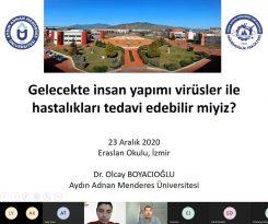 ADÜ öğretim üyesi lise öğrencileri ile çevrimiçi seminer gerçekleştirdi