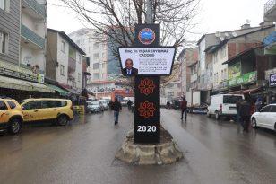 Ağrı Belediyesi'nden caddelere dekoratif tabela