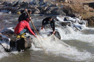 Ağrı'da balıkçılar ilk mesailerine başladı