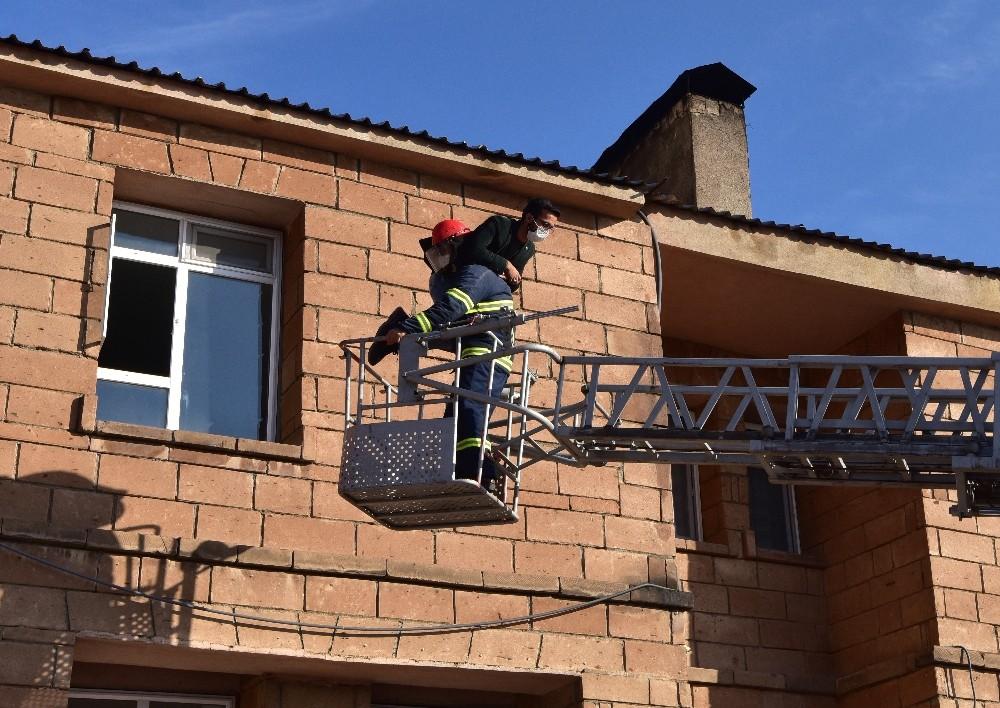 Ahlat Devlet Hastanesinde yangın tatbikatı