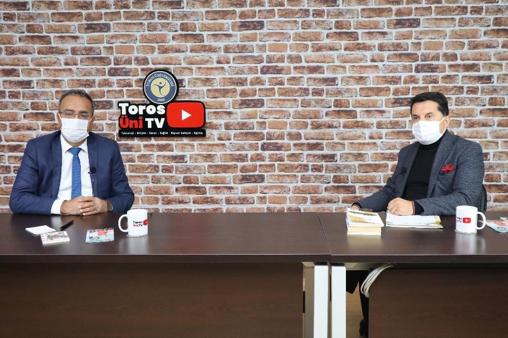 Akdeniz Kent Konseyi Başkanı Mustafa Erim Toros Üni TV'nin konuğu oldu