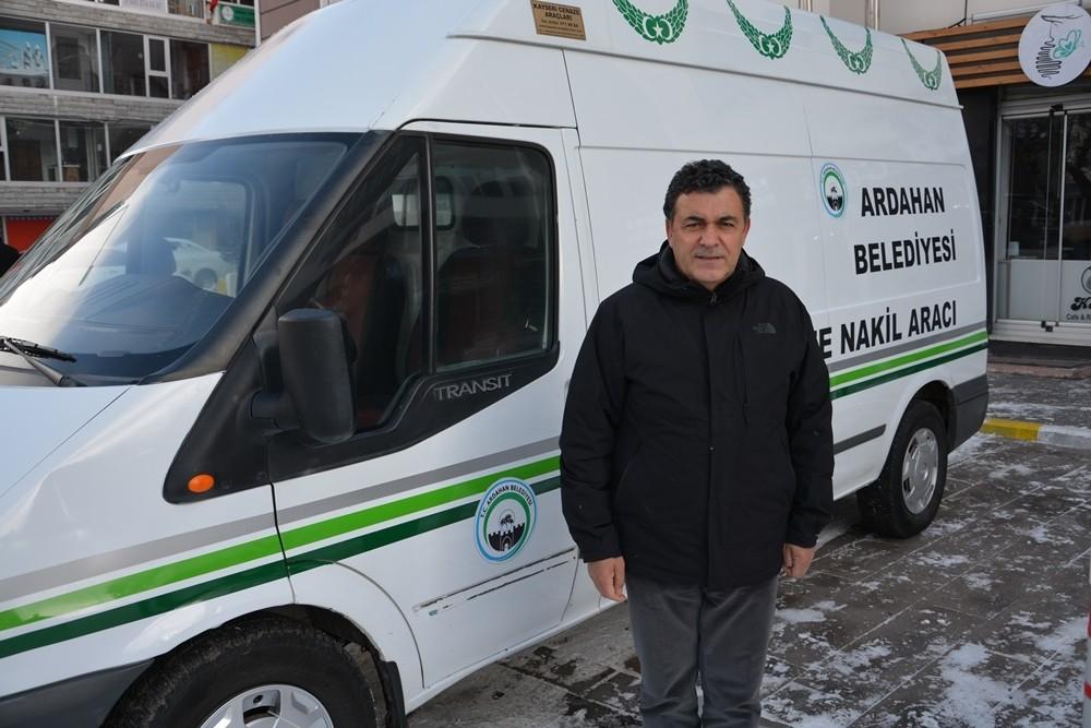 Ardahan Belediyesine Cenaze Nakil Aracı