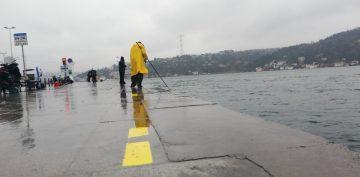 Arnavutköy Sahilinde Balıkçılara Sosyal Mesafe Ayarı