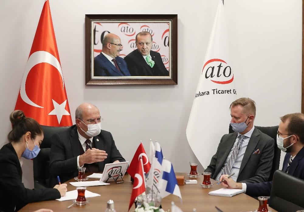 """ATO Başkanı Baran: """"Finlandiya ile ticarette 5 milyar dolar düzeyi ulaşılabilir bir hedeftir"""""""