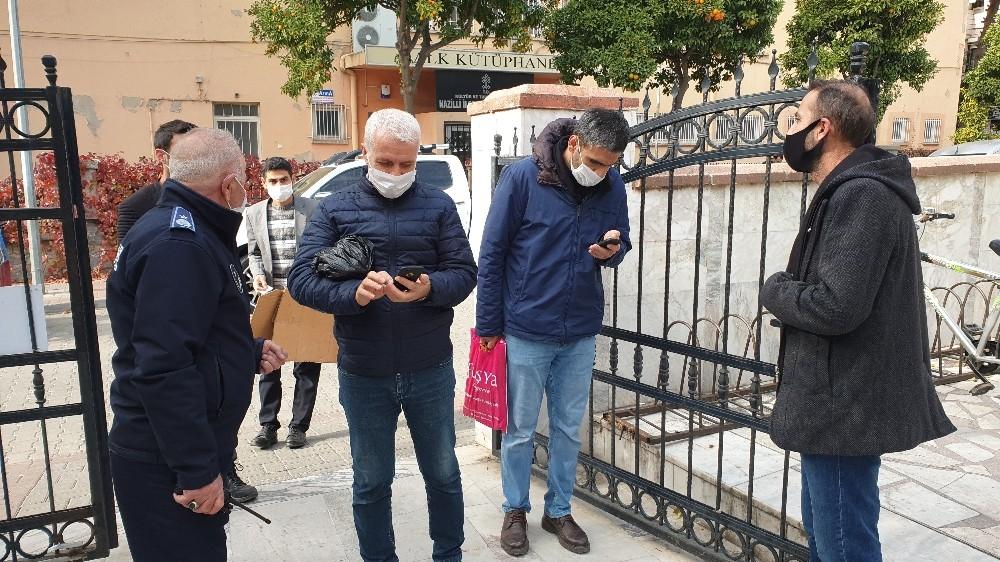 Aydın'da cuma namazı öncesi HES kodu sorgulaması yapıldı
