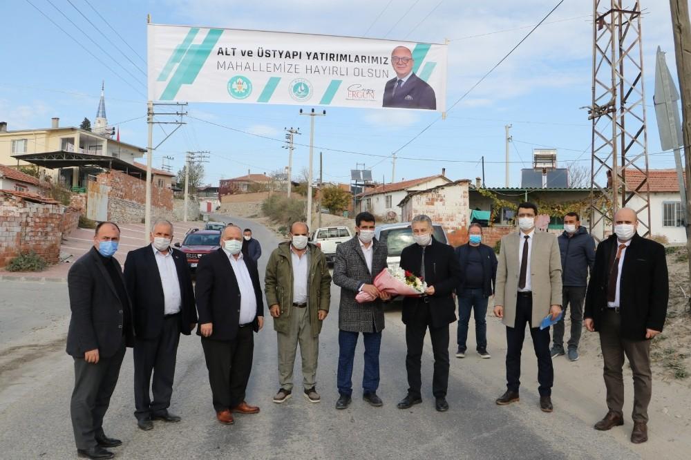 Azimli'de altyapı çalışması hızla devam ediyor