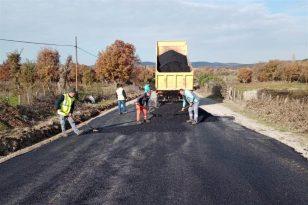 Balıkesir'de 20 ilçede sıcak asfaltlama işi sürüyor