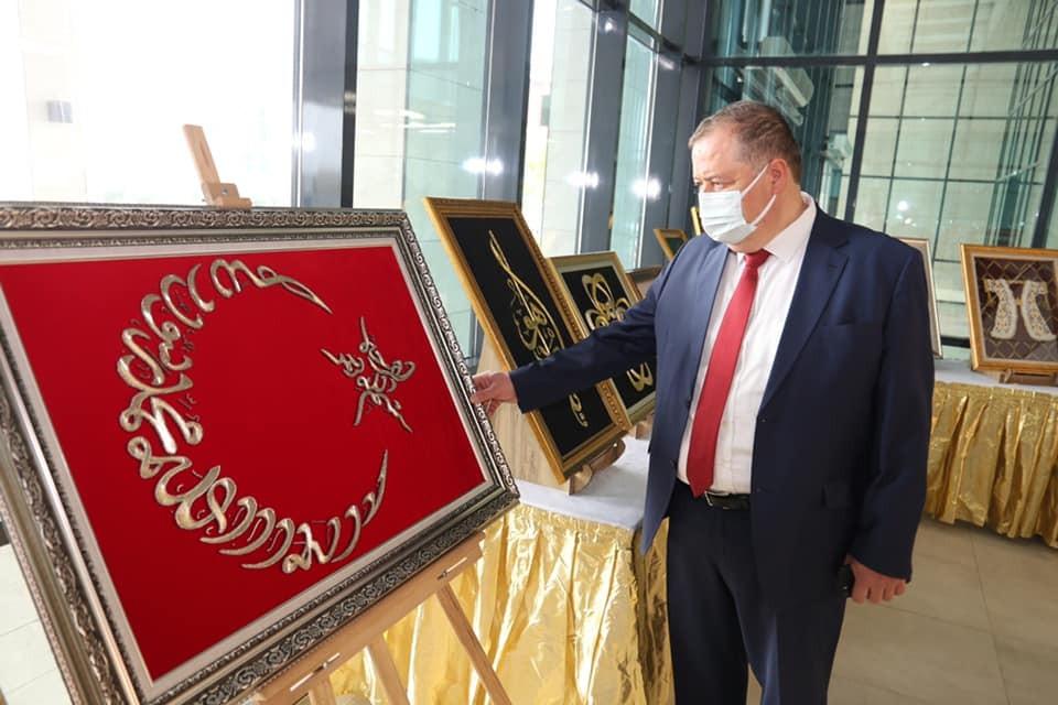 Başkan Ramazan Dekoratif El Sanatları Sergisini gezdi