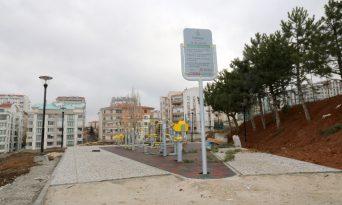 Başkent'e kazandırılan Karapınar Spor Parkı'nda sona doğru