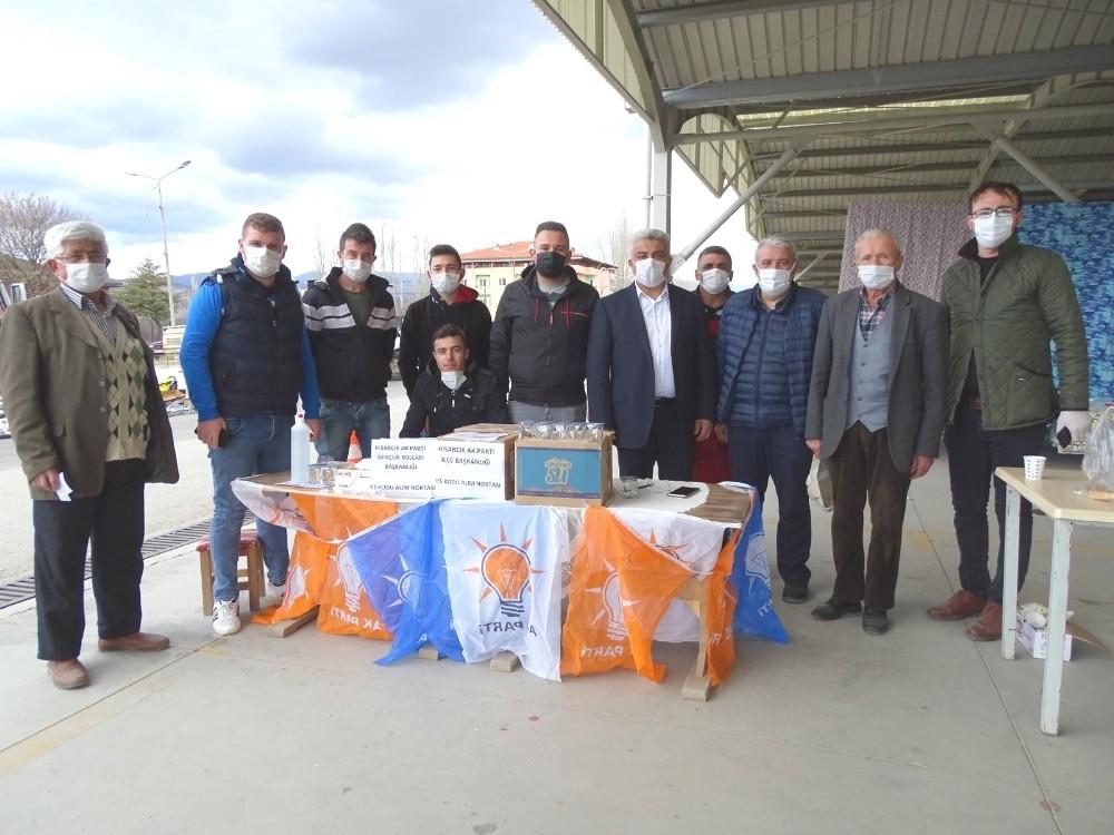 Belediye ve AKP Gençlik Kolları'ndan vatandaşlara HES kodu desteği